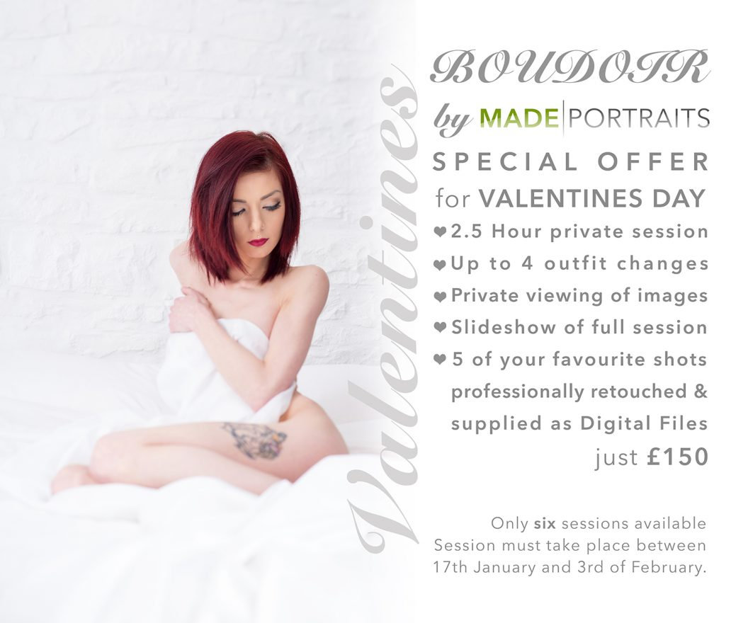 Valentines Day Boudoir Special Offer